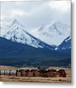 On The Rocky Mountain Front Metal Print