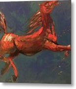 On The Run - Horse Metal Print