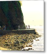 On The Seawall  Stanley Park Metal Print