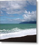 On The Shore Of Lake Ferry Metal Print