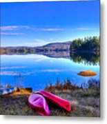 On The Shore Of Seventh Lake Metal Print
