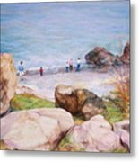 On The Shore Of The Ocean Metal Print