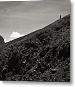 On The Slope Metal Print