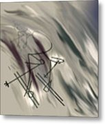 On The Slopes Metal Print