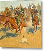 On The Southern Plains Frederic Remington Metal Print