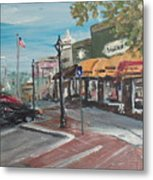 On The Square Metal Print