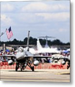 On The Taxiway Metal Print
