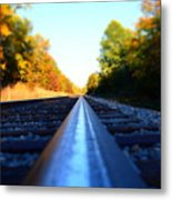 On The Track Metal Print
