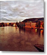 On The Vltava River Metal Print