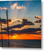 On The Water Front Metal Print