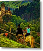 On The Way To Bran Castle Metal Print