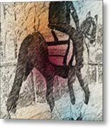 On The Way To The Workout Metal Print