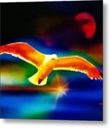 On The Wings Of A Gull Metal Print