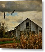 On The Wings Of Change Metal Print