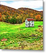 Once Upon A Mountainside 2 - Paint Metal Print