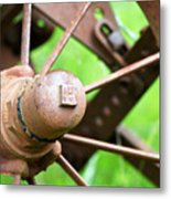 Once Upon A Wheel Metal Print