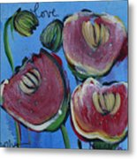 Once Upon A Yoga Mat Poppies 3 Metal Print