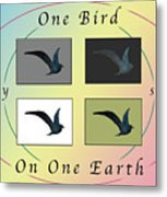 One Bird Poster And Greeting Card V1 Metal Print