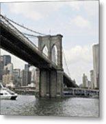 One Day At Brooklyn Bridge Metal Print