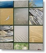 One Day At The Beach Ll Metal Print