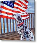 One Dog Salute Metal Print