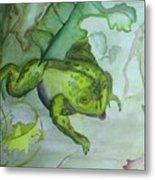 One Frog Metal Print