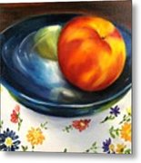 One Good Peach Metal Print