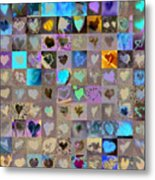 One Hundred And One Hearts Metal Print by Boy Sees Hearts