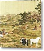 One Hundred Horses 5 Metal Print