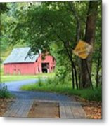 One Lane Bridge Metal Print