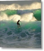 One Last Wave Dumps Maui Hawaii Metal Print