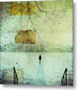 One Man In The Winter Of His Life Metal Print