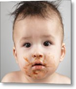 One Messy Baby Boy Metal Print