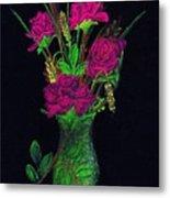 One More Rose Metal Print