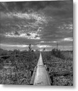 One Rail Metal Print