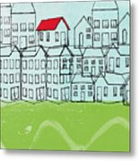 One Red Roof Metal Print
