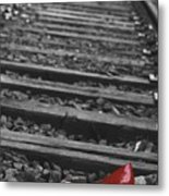 One Red Shoe Metal Print