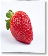 One Red Strawberry Metal Print