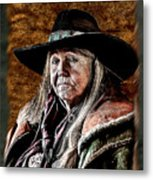 One Serious Cowgirl Metal Print