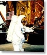 One Small Step For Man Metal Print
