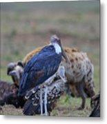 One Stork Metal Print