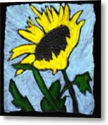One Sunflower Metal Print