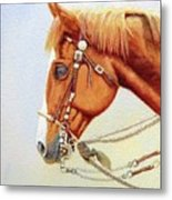 One Tricked Out Cowpony Metal Print