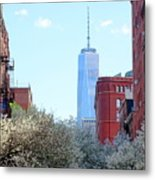 One World Trade Center In Spring Metal Print