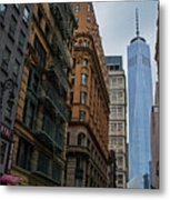 One World Trade Center New York Ny From Nassau Street Metal Print
