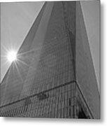 One World Trade Center New York Ny Sunset Black And White Metal Print