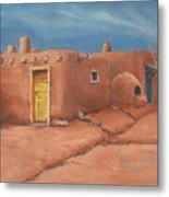 One Yellow Door Metal Print