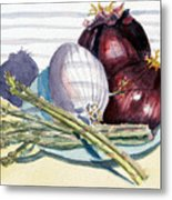 Onions And Asparagus - Miniature Metal Print