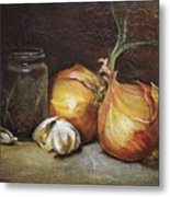 Onions And Garlic  Metal Print
