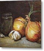 Onions And Garlic  Metal Print